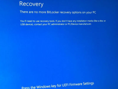Window Surface Pro no more bitlocker recovery